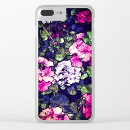 Pink Geraniums, Goddess Energy Clear iPhone Case