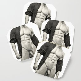 Open Shirt (001) Coaster