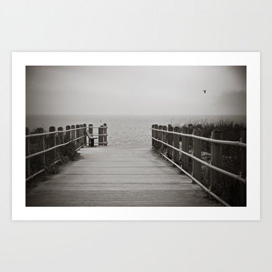 Lonely Beach Day Art Print