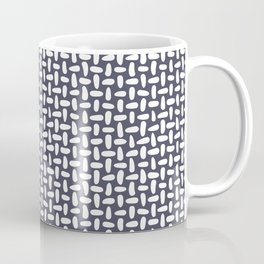 Purple stitches, minimal, stitch, seeds, mid century, abstract, pattern Coffee Mug
