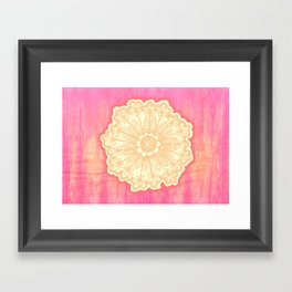 pink is s000 in.  Framed Art Print