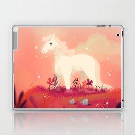White Horse on the Pink Prairie Laptop & iPad Skin