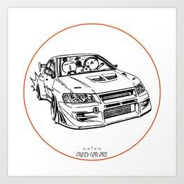 Crazy Car Art 0196 Art Print