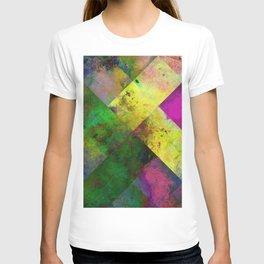 Dark Diamonds - Textured, patterned painting T-shirt
