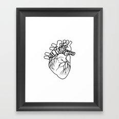 Elastic Heart Framed Art Print