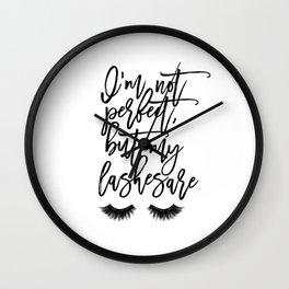 MAKEUP PRINT Eyelash Decor Makeup Vanity Art Rouge Lashes Wall Clock