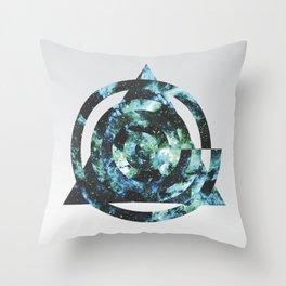 Spiral, Triangle, Nebula. Throw Pillow