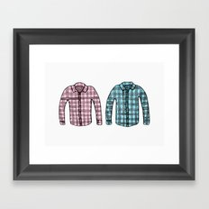 Flannel shirts Framed Art Print