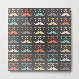 Mustache Life  Metal Print