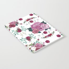 Floral Pattern with Arrows Notebook