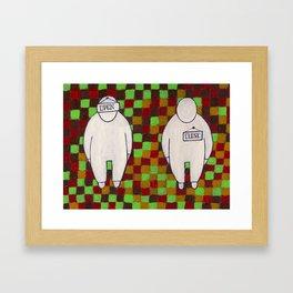 open-close Framed Art Print