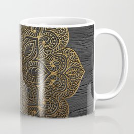 Wood Mandala - Gold Coffee Mug