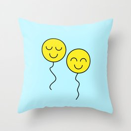 Two Happy Balloons Throw Pillow