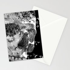 skull birds 01 Stationery Cards