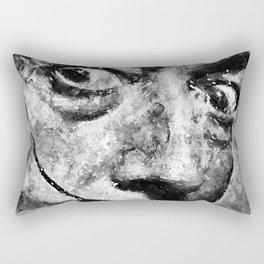 Dali's Eyes B&W Rectangular Pillow