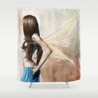 warrior Shower Curtains featuring Warrior by Rhiannongigglegoddess