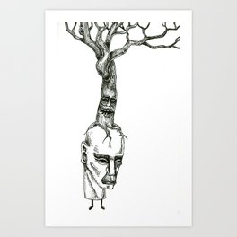 Tree Stacks Art Print