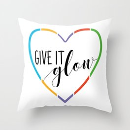 Give it Glow Rodan and Fields Rf Throw Pillow