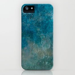 Blue Gray grunge | Grungy | Blue coral | Grunge Decor iPhone Case