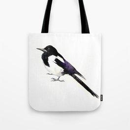 Magpie, bird art, minimalist magpie bird painting Tote Bag