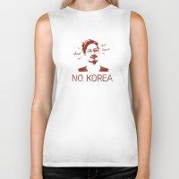 korea Biker Tanks featuring No, Korea by HMS James