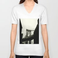 dumbo V-neck T-shirts featuring DUMBO by Camile O'Briant