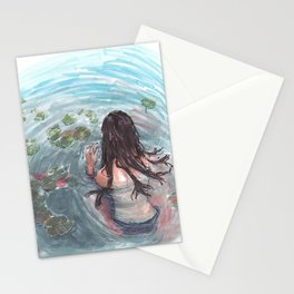 Inside the water Stationery Cards