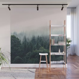 Between every two pines is a doorway to a new world Wall Mural