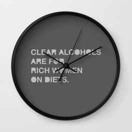 Ron Swanson 'Diets' Wall Clock