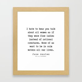 12  | Jane Austen Quotes | 190722 Framed Art Print