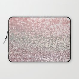 Girly Pink Snowfall Laptop Sleeve