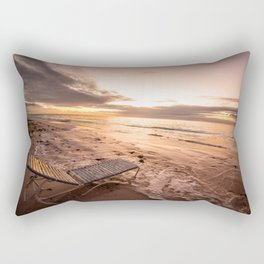 Sunrise on Bermuda beach Rectangular Pillow