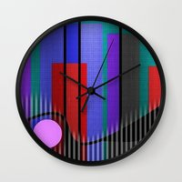 band Wall Clocks featuring Jazz Band by Kristine Rae Hanning
