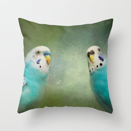 The Budgie Collection - Budgie Pair Throw Pillow