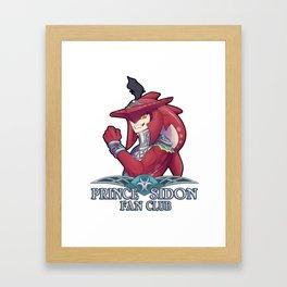 Prince Sidon Fan Club Framed Art Print
