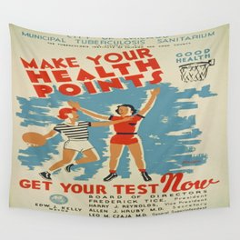 Vintage poster - Make Your Health Points Wall Tapestry