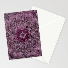Vintage Merlot Lace Mandala Stationery Cards