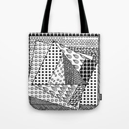 simple doodles in the square . Tote Bag