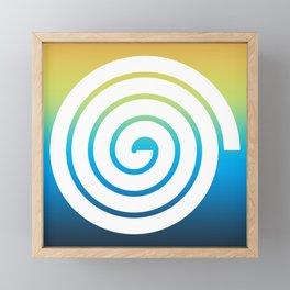 White Spiral Framed Mini Art Print