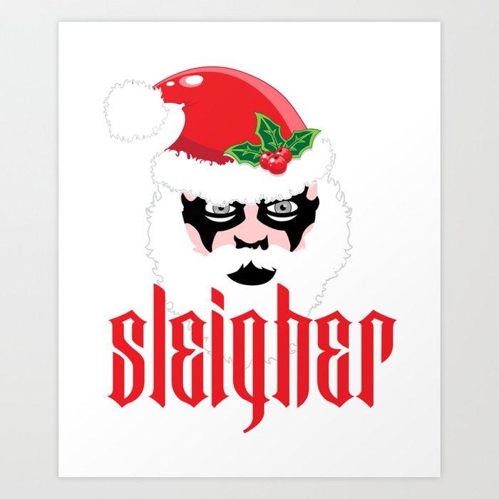 Christmas Parody.Sleigher Christmas Xmas Parody Art Print By Anziehend