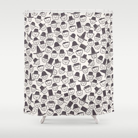 Cats With Hats Shower Curtain