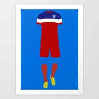 world cup Art Prints featuring World Cup by indelible international
