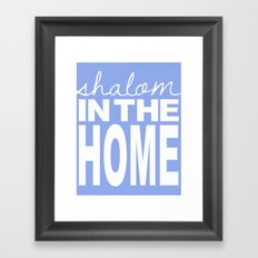 Shalom in the Home, lavender Framed Art Print