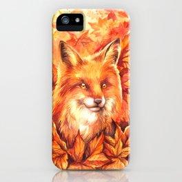 Foxy Autumn iPhone Case