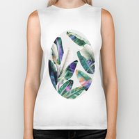 tropical Biker Tanks featuring tropical #1 by LEEMO