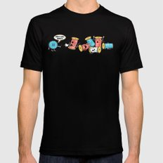Who's Cute Now!? MEDIUM Black Mens Fitted Tee