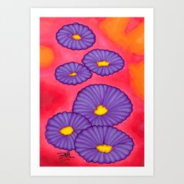 Purple Flowers - Mazuir Ross Art Print