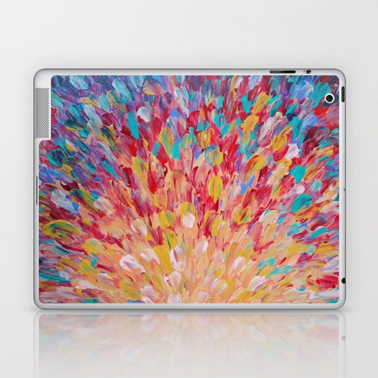 SPLASH - WOW Dash of Cheerful Color, Bold Water Waves Theme, Nature Lovers Modern Abstract Decor Laptop & iPad Skin
