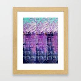 Stuck On Static Framed Art Print