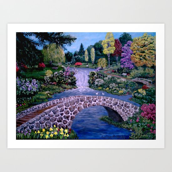 My Garden - by Ave Hurley Art Print